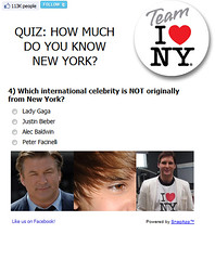 EscapeMaker.com Quiz on ILOVENY FB Page (Official I LOVE NY) Tags: nyc twilight newyorkstate nys gaga iloveny bieber ilovenewyork peterfacinelli alexbaldwin ladygaga justinbieber