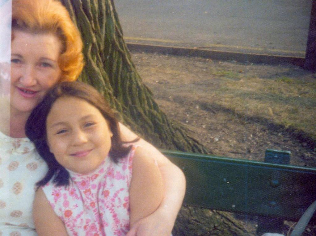 Angela Hull with Mum 1970s