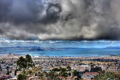 View of San Francisco Bay from Berkeley Lab Campus (Oleg.) Tags: sanfrancisco sky clouds hdr lbnl ucberkeley lbl dailyshoot lawrenceberkeley hdrbest t2ibest ds467