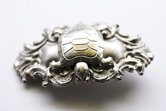 Custom Metallic Turtle Hair Clip (shaire productions) Tags: art animal collage metal female silver project hair photo artwork image handmade turtle reptile assemblage metallic feminine decorative crafts arts creative victorian inspired craft creation projects etsy crafty piece custom decor artisan imagery barrette steampunk accessory influence hairclip upcycle frenchbarrette