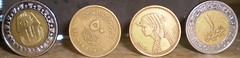 Egyptian coins (Ahmed Mohy) Tags: coin coins egypt cairo pound  ahly  onepound     50piasters