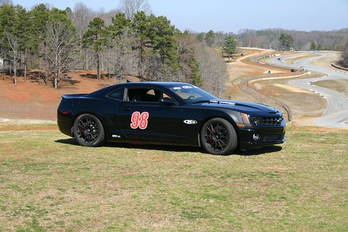 supercharged Camaro road race car