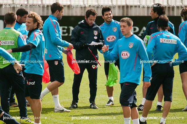 Atletico de Madrid. Entrenamiento 22-02-2011