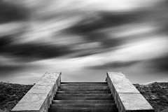 levee #2 (nicola tramarin) Tags: longexposure bw italy clouds monocromo italia nuvole stairway scala biancoenero levee veneto argine lungaesposizione polesine nicolatramarin guardaveneta
