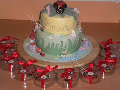 Ladybird cake (Niki SG) Tags: cookies cake cupcakes baptism bithday     sketiglykagr  wwwsketiglykagr