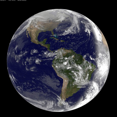 Full Disk Image of Earth Captured March 2, 2011