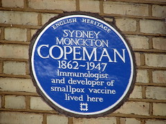 Photo of Sydney Monckton Copeman blue plaque