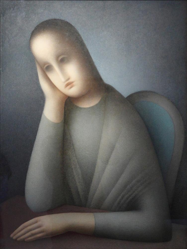 Jan Zrzavý, Sedící dívka [Sitting girl], 1945