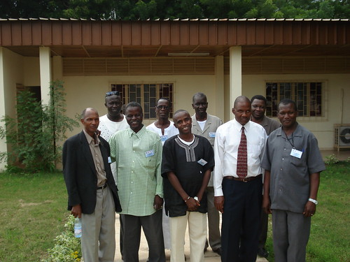 Dr. Boubacar M. Seck (second from right) meets with stakeholders during a Global Positioning System (GPS) workshop at the Regional Animal Health Center in Bamako, Mali (photo by Dr. Morella DeRosa, USDA)