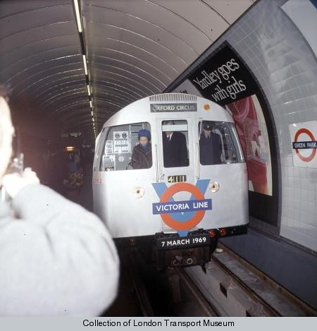Queen opening the Victoria Line by London Transport Museum