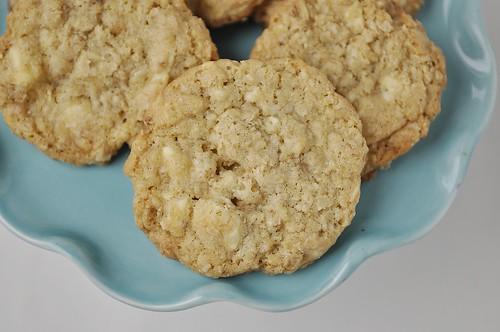 Salted White CHocolate Oatmeal Cookies