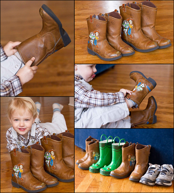 boots collage