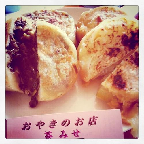 昼食もおやき、野沢菜、玉葱 #oyakataoyaki