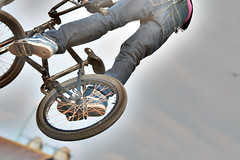 BMX (pennyhardie) Tags: high bmx air riding lee solent