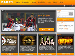 Expekt Sportsbook Home