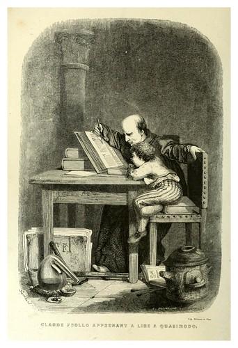 020-Claude Frollo enseñando a leer a Quasimodo-Notre-Dame de Paris 1844- edicion Perrotin Garnier Frères