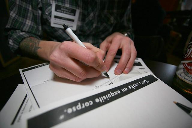 Dan's hands