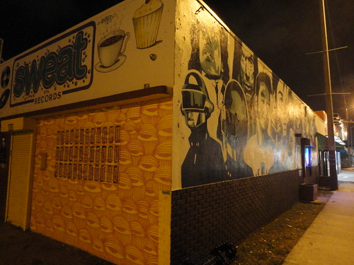 record store mural