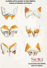 Origami-création - Didier Boursin - Papillons Seita