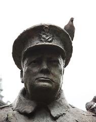 Churchill (Colin Hodges) Tags: paris bird statue pigeon churchill