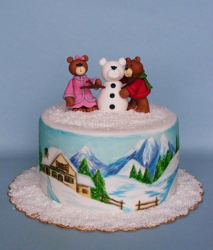 Snowbear cake