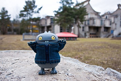 Uglyworld #1010 - Marburg Virus (Project BIG - Image 69-365) (www.bazpics.com) Tags: project four monkey university research jacket level denim agent guide 365 scared virus microbiology marburg infection informative uglydolls babo infect toxin ebola 2011 biosafety barryoneilphotography