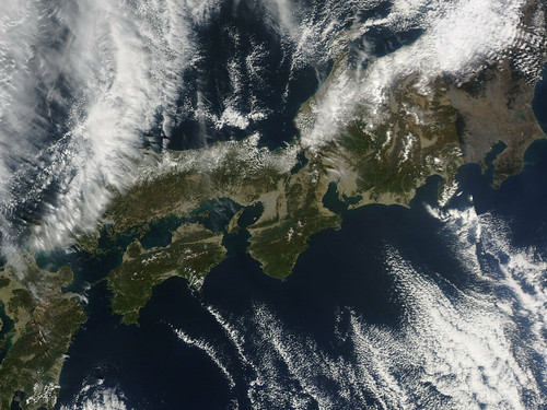 NASA Satellite View of Japan Captured March 5, 2011