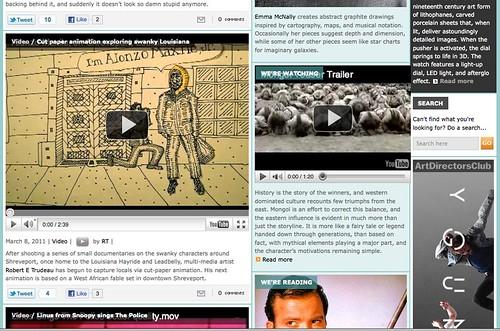 """Alonzo Maxile, Jr,"" cut-paper animation, at lostateminor.com by trudeau"