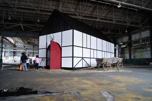 Traditional German barn in hangar