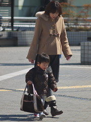I have (kasa51) Tags: street city people japan lumix child mother panasonic konica yokohama manualfocus 135mm f35 hexanon gf1  totsuka prayforjapan