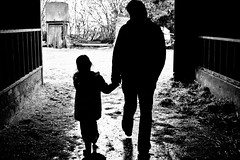 father & daughter (Rosie Anne) Tags: farm father footsteps holdhands peopledaughter