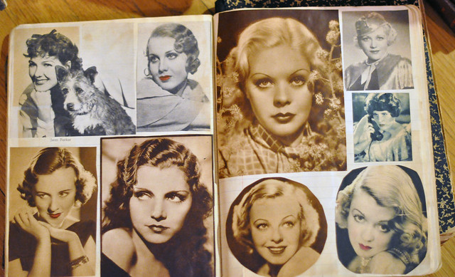 Old Hollywood Movie Stars, old magazines, magazines from the 1930's, black and white photography, vintage photos, DSC_0376