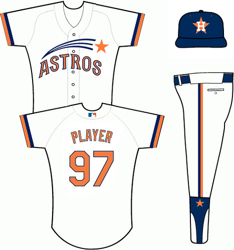 houston astros uniforms. 1965-74 Houston Astros Uniform