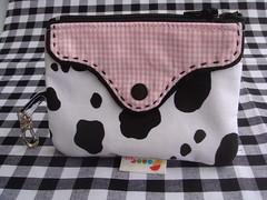 Porta-celuar + mini-carteira Vaquinha (Sonoe BAG) Tags: vaca vaquinha portamoedas minicarteira portacelullar