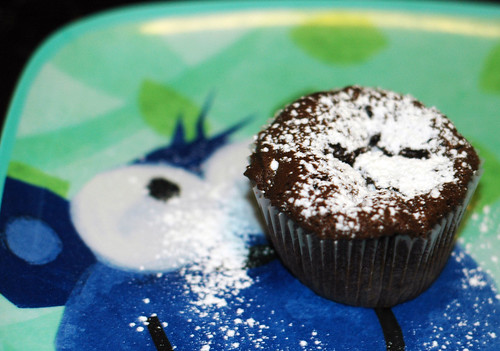 Flourless chocolate cupcakes pack rich chocolate flavor into a small ...