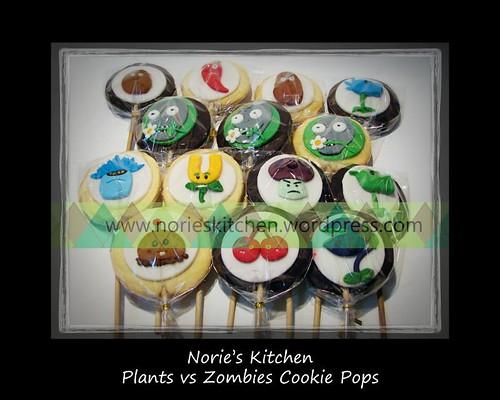 Norie s kitchen plants vs zombies cookie pops gt please like us