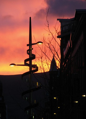 Sunset and the Belfast Squiggle