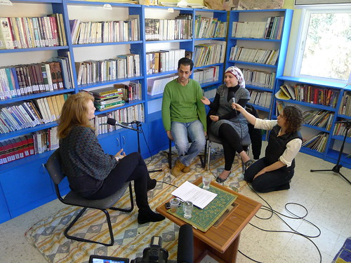 Krista Interviews Workers at the Lajee Center in Aida Camp, Bethlehem