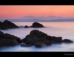 Goatfell Rocks (blue fin art- 1.5 Million Views. Thank You!) Tags: light sunset sea water rocks scottish arran goatfell isalnd