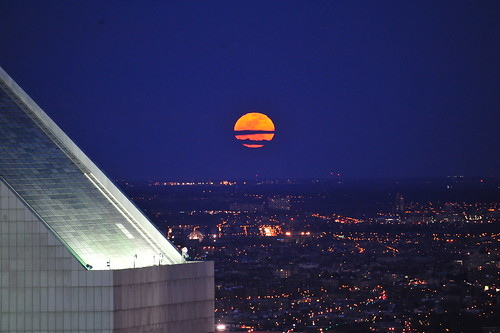 FULL MOON / SPRING EQUINOX   2011  /   View from Top of the Rock   -   Rockefeller Center Building, Manhattan NYC   -   03/19/11