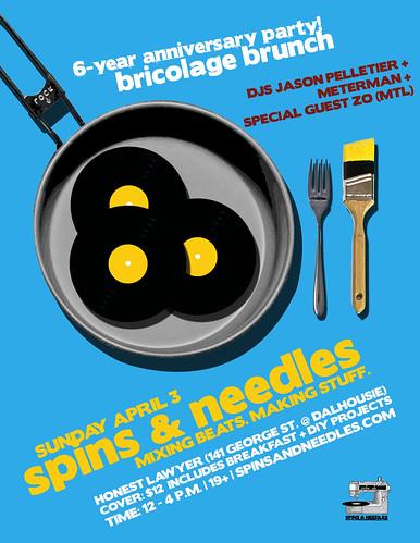 Spins & Needles | 6-Year Anniversary | Bricolage Brunch