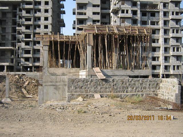 Under construction Club House in Teerth Realties' Aarohi - 2 BHK & 3 BHK Flats - near Vidya Valley School - Sus Pune 411 021