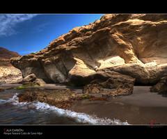 Cala Carbn (scarabaeus sacer) Tags: beach 9 playa almera roca cala 2010 2011 parquenaturalcabodegatanjar nikond300 jatm64 mygearandme mygearandmepremium mygearandmebronze mygearandmesilver mygearandmegold mygearandmeplatinum