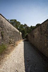 frontal III (Jorge Losada) Tags: light shadow summer italy sun muro luz wall architecture landscape arquitectura italia estate camino path space perspective hard rotonda sombra paisaje villa verano perspectiva frontal vicenza palladio espacio spazio fuerte jorgelosada