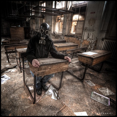 urbex class ([AndreasS]) Tags: old uk school england urban texture abandoned me canon hospital dark square eos still chair peeling paint place post decay room exploring grunge guard neglected sigma nuclear security eerie class creepy equipment medical ill disaster sit end trespass horror 5d lesson skole exploration sick derelict leftover 1224mm hdr decayed hdri apocalyptic 1x1 illness urbex detention forlatt forfall nedlagt mrnorue