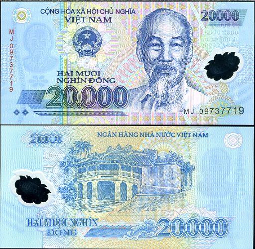 20 000 Dong Vietnam 2006-9, polymer