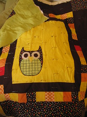 Owl quilt might finally get quilted