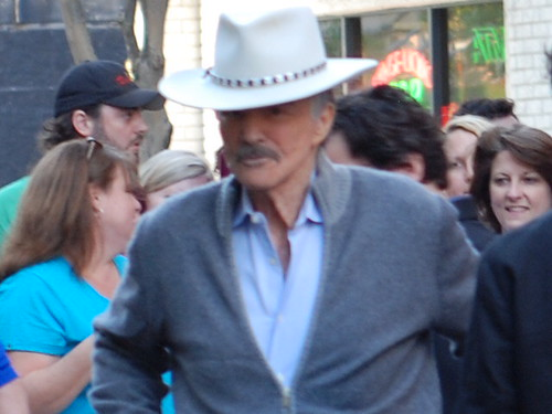 burt reynolds outside tampa theater