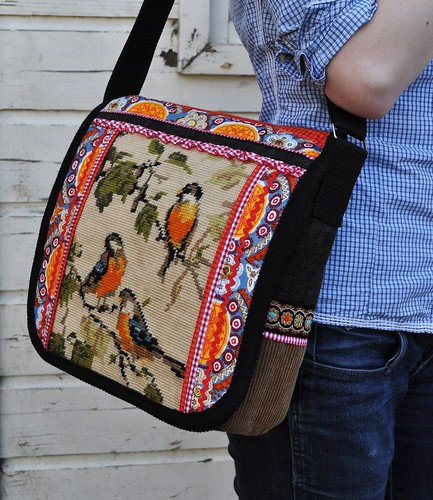 Spring bird on new bag