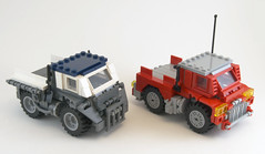 M.P.C.H Group Shot (Titolian) Tags: truck lego space duty future heavy load carry variant hauler mpch